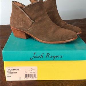 EUC Jack Rogers Suede Booties Size 8